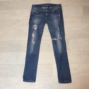 Guess Jeans Sz 30 Daredevil Skinny Leg Distressed